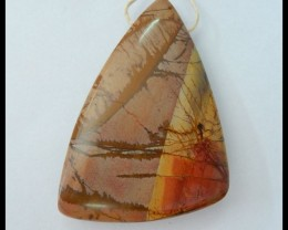 Natural Muti Color Picasso Jasper Pendant,53x35x9mm,114ct(17060705)