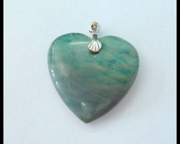 Natural Wave Jasper Heart Pendant,25x24x7mm,30.5ct(17060710)