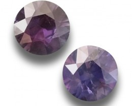 Natural  Pair Unheated Violte Sapphire | Loose Gemstone | Sri Lanka - New