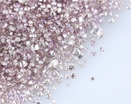 Lot of 2.00 Ct. Natural Fancy purple Pink Diamond 1.00 mm calibrated sizes.