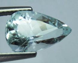4.0ct Beautiful Aquamarine Pear Shape cutting nice luster Shigar mine Pak