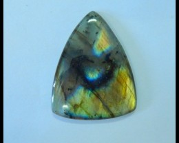 Natural Labradorite Flashy Triangular Cabochon,34x26x5mm,33ct(17060801)