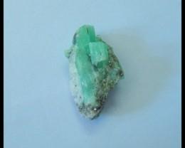 Natural Emerald Green Small Rough Stone,Semiprecious Stone Cabochon,21x12x8