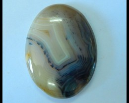 Natural Rare East Java Maganese Agate Cabochon,43x32x8mm,78.5ct(17060808)