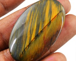 Genuine 41.00 Cts Oval Shape Golden Tiger Eye Cab