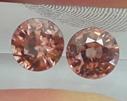 2.91cts, Orange Zircon,  Natural Stone, Unheated