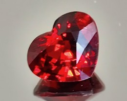 3.80ct Stunning Red Spessartite Garnet Heart Cut VVS gem