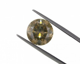 6.04 ct. Natural Fancy Greenish Yellow Round Brilliant Cut shape Diamond, A