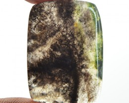 Genuine 20.50 Cts Moss Agate Untreated Cab