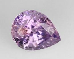 1.39 Cts Natural Corundum Sapphire Nice Purple Pear Madagascar