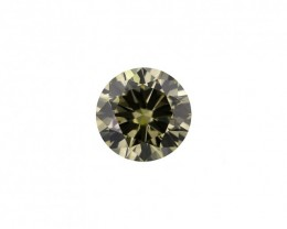 2.01 ct. Natural Fancy Yellow Green Round Brilliant Cut shape Diamond,