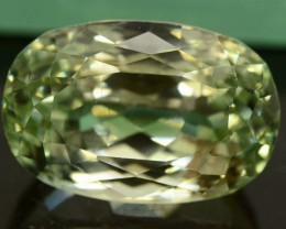 27.80 ct Greenish Spodumene Gemstone