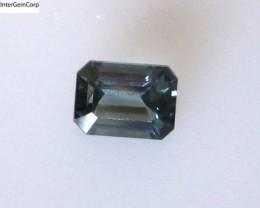 0.87cts Natural Australian Blue Sapphire Emerald Cut