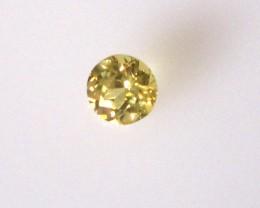 0.30cts Natural Australian Yellow Sapphire Round Shape