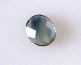 0.59cts Natural Australian Blue Parti Sapphire Oval Checker Board Shape