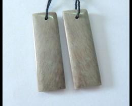 Natural Wave Jasper Earrings,30x10x4mm,25.5ct(17060909)