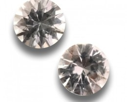 Natural Unheated White Pair sapphire |New| Sri Lanka