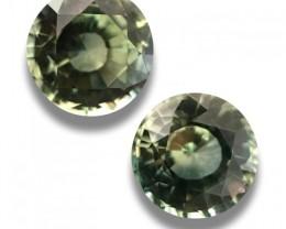 natural Unheated Green Pair Sapphire|Loose Gemstone|Ceylon-NEW