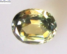 1.15cts Natural Australian Yellow Parti Sapphire Oval Shape