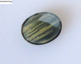 1.10cts Natural Australian Blue/Yellow Parti Sapphire Oval Checker Board Sh
