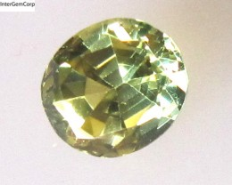 0.96cts Natural Australian Yellow Parti Sapphire Oval Shape
