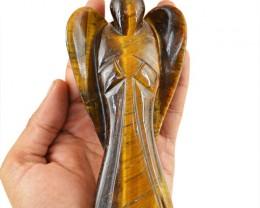Genuine 1495.00 Cts Golden Tiger Eye Healing Angel