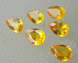 3.20 CTS ALLURING EXTREME FIRE HOT RICH YELLOW SAPPHIRE 6 PCS