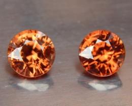 3.28cts,  orange Zircon,  Natural Stone, Unheated, VVS1