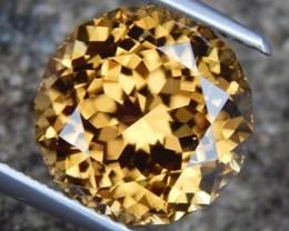 8.17cts, Yellow Zircon, Master cut,  VVS1, Calibrated