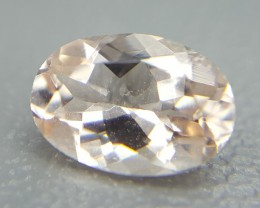 0.75 Crt Natural Morganite Faceted Gemstone (R 35)