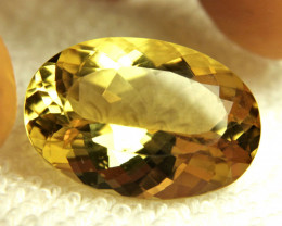 CERTIFIED - 30.23 Carat Natural IF/VVS1 Golden Andesine - Superb