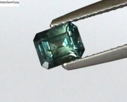 0.71cts Natural Australian Blue Parti Sapphire Emerald Cut