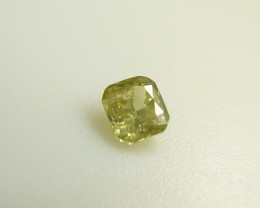 0.12ct Fancy intense Yellow Green Diamond , 100% Natural Untreated