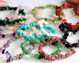 12 Beautiful  Natural Gemstone bracelets PPP 1314
