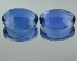 7.85 Cts Natural Color Change Fluorite Oval Cut 2 Pcs Brazil Gem