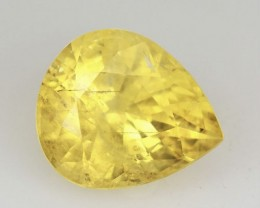 1.51 Cts Natural Sapphire Canary Yellow Pear Madagascar