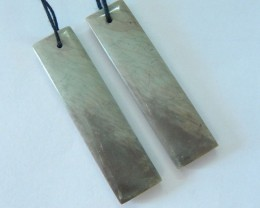 Natural Wave Jasper Earrings,40x10x4mm,34.5ct(17061209)