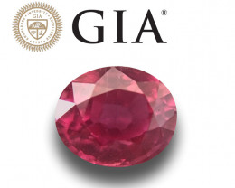 1.03 CTS | GIA Certified Natural Ruby | Loose Gemstone | New |Mozambique
