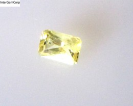 0.30cts Natural Australian Yellow Sapphire Radiant Shape