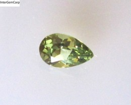 0.42cts Natural Australian Yellow Parti Sapphire Pear Shape