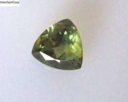 0.80cts Natural Australian Yellow/Blue Parti Sapphire Trillion Shape