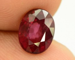 2.70 ct Natural Red Rhodolite Garnet