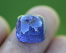 11.95 Ct square tanzanite cabochon