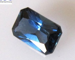 0.60cts Natural Australian Blue Sapphire Radiant Shape