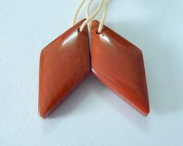 Natural Red River Jasper Earrings,26x12x5mm,21.5ct(17061403)