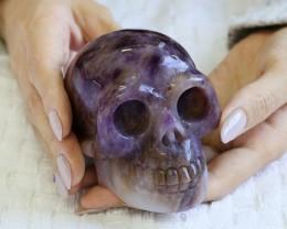 4 Inch Amethyst Skull  PPP 1338