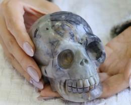 4 Inch Grey Jasper Skull  PPP 1320