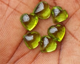 11.25 Cts.Magnificient Top Sparkling Intense Green-Heart 8.15mm Peridot 6