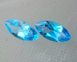 6.85 CTS DAZZLING 15.20 MM NATURAL ULTRA RARE SWISS BLUE TOPAZ MARQUISE CUT