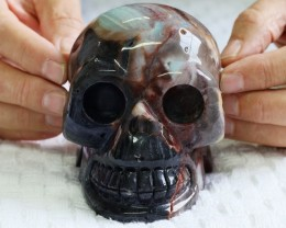 Large Amazonite Gemstone Skull  PPP 1329